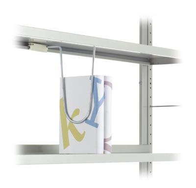 Hangende boekensteun met kunststof slider