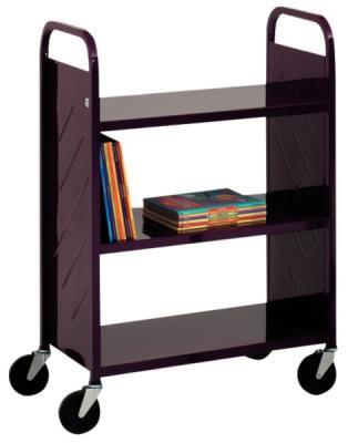 Boekenwagen 'LibraryQuiet' (breed, 3 legborden)
