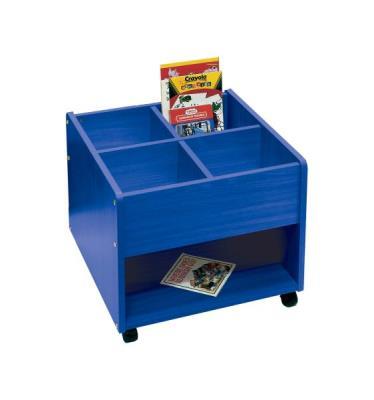 Prentenboekenbak blauw