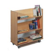 Enkelzijdige verrijdbare boekenkast