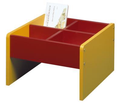 Prentenboekenbak rood/geel