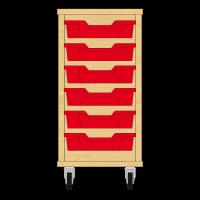 Storix Eigendomskast beuken 1 kol. 6 laden rood
