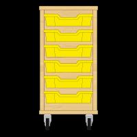 Storix Eigendomskast beuken 1 kol. 6 laden geel