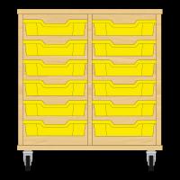 Storix Eigendomskast beuken 2 kol. 6 laden geel