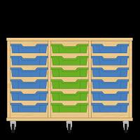 Storix Eigendomskast beuken 3 kol. 6 laden blauw-groen-blauw