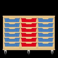 Storix Eigendomskast beuken 3 kol. 6 laden blauw-rood-blauw