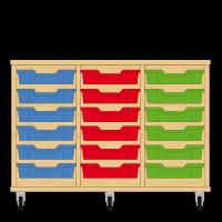 Storix Eigendomskast beuken 3 kol. 6 laden blauw-rood-groen