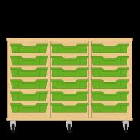 Storix Eigendomskast beuken 3 kol. 6 laden groen