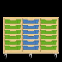 Storix Eigendomskast beuken 3 kol. 6 laden groen-blauw-groen