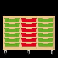 Storix Eigendomskast beuken 3 kol. 6 laden groen-rood-groen