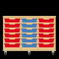 Storix Eigendomskast beuken 3 kol. 6 laden rood-blauw-rood