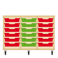 Storix Eigendomskast beuken 3 kol. 6 laden rood-groen-rood