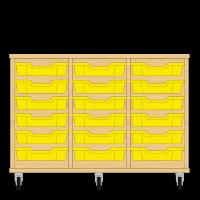 Storix Eigendomskast beuken 3 kol. 6 laden geel