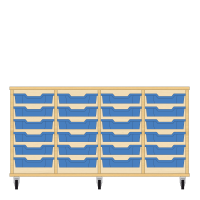 Storix Eigendomskast beuken 4 kol. 6 laden blauw