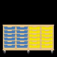 Storix Eigendomskast beuken 4 kol. 6 laden blauw-blauw-geel-geel