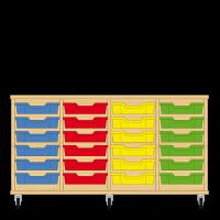 Storix Eigendomskast beuken 4 kol. 6 laden blauw-rood-geel-groen