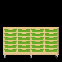 Storix Eigendomskast beuken 4 kol. 6 laden groen