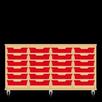 Storix Eigendomskast beuken 4 kol. 6 laden rood