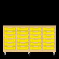 Storix Eigendomskast beuken 4 kol. 6 laden geel