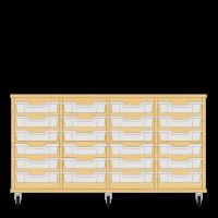 Storix Eigendomskast beuken 4 kol. 6 laden transparant