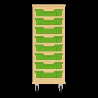 Storix Eigendomskast beuken 1 kol. 8 laden groen