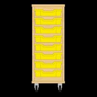 Storix Eigendomskast beuken 1 kol. 8 laden geel