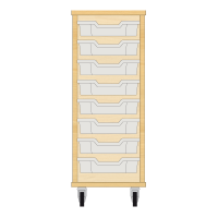 Storix Eigendomskast beuken 1 kol. 8 laden transparant