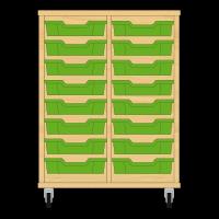 Storix Eigendomskast beuken 2 kol. 8 laden groen