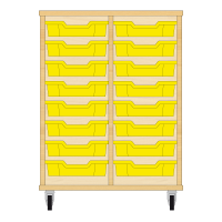 Storix Eigendomskast beuken 2 kol. 8 laden geel
