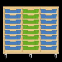 Storix Eigendomskast beuken 3 kol. 8 laden blauw-groen-blauw