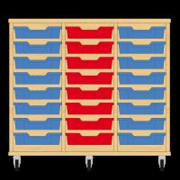 Storix Eigendomskast beuken 3 kol. 8 laden blauw-rood-blauw