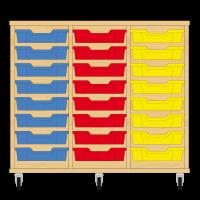 Storix Eigendomskast beuken 3 kol. 8 laden blauw-rood-geel