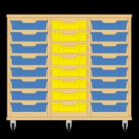 Storix Eigendomskast beuken 3 kol. 8 laden blauw-geel-blauw