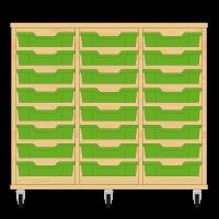 Storix Eigendomskast beuken 3 kol. 8 laden groen
