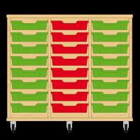 Storix Eigendomskast beuken 3 kol. 8 laden groen-rood-groen