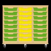 Storix Eigendomskast beuken 3 kol. 8 laden groen-geel-groen