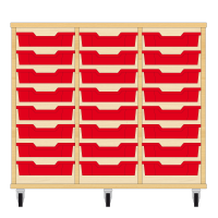 Storix Eigendomskast beuken 3 kol. 8 laden rood