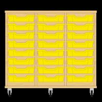 Storix Eigendomskast beuken 3 kol. 8 laden geel