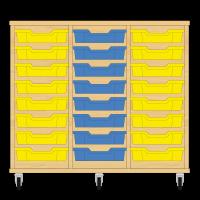 Storix Eigendomskast beuken 3 kol. 8 laden geel-blauw-geel