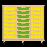 Storix Eigendomskast beuken 3 kol. 8 laden geel-groen-geel