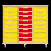Storix Eigendomskast beuken 3 kol. 8 laden geel-rood-geel