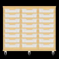 Storix Eigendomskast beuken 3 kol. 8 laden transparant
