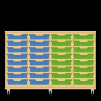 Storix Eigendomskast beuken 4 kol. 8 laden blauw-blauw-groen-groen
