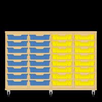 Storix Eigendomskast beuken 4 kol. 8 laden blauw-blauw-geel-geel