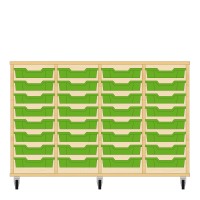 Storix Eigendomskast beuken 4 kol. 8 laden groen