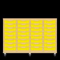 Storix Eigendomskast beuken 4 kol. 8 laden geel