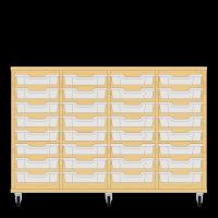 Storix Eigendomskast beuken 4 kol. 8 laden transparant