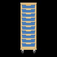 Storix Eigendomskast beuken 1 kol. 10 laden blauw