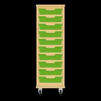 Storix Eigendomskast beuken 1 kol. 10 laden groen