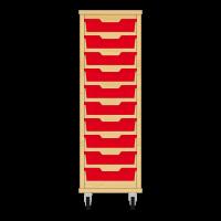 Storix Eigendomskast beuken 1 kol. 10 laden rood